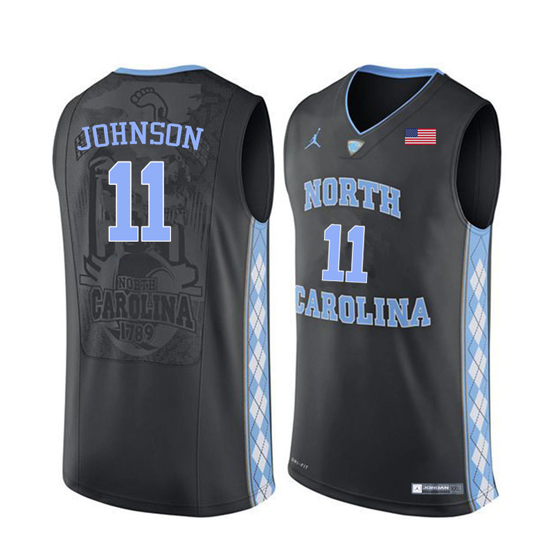 Men North Carolina Tar Heels #11 Brice Johnson College Basketball Jerseys Sale-Black