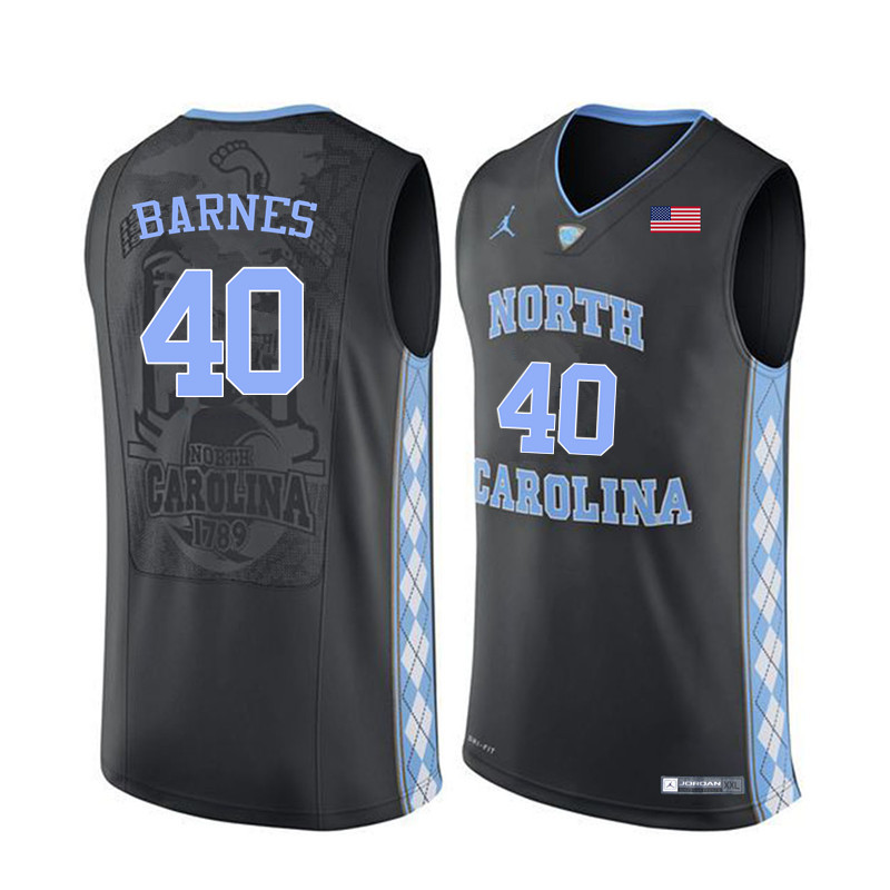 Men North Carolina Tar Heels #40 Harrison Barnes College Basketball Jerseys Sale-Black
