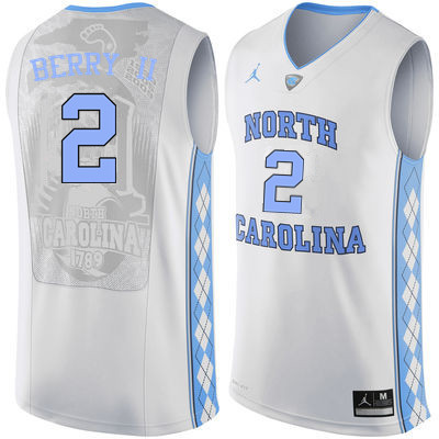 Men North Carolina Tar Heels #2 Joel Berry II College Basketball Jerseys Sale-White