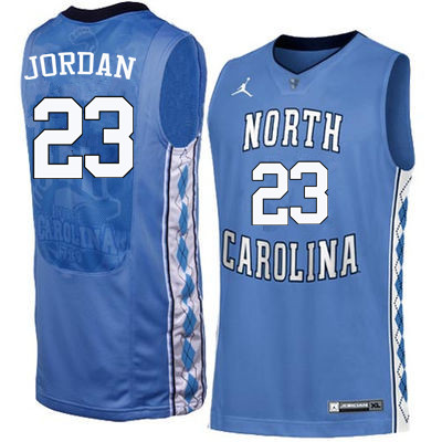 Men North Carolina Tar Heels #23 Michael Jordan College Basketball Jerseys Sale-Blue