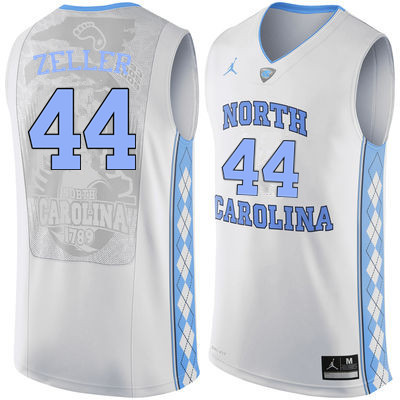 Men North Carolina Tar Heels #44 Tyler Zeller College Basketball Jerseys Sale-White